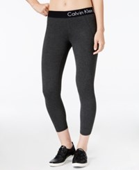 Calvin Klein Performance Logo Leggings Slate Heather