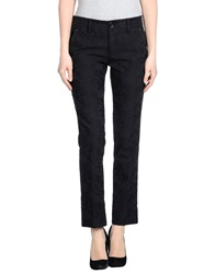 High Casual Pants Black
