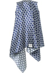 Awake Oversized Polka Sleeveless Coat Blue