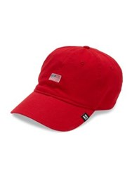 Hickey Freeman Flag Embroidered Adjustable Washed Cap Red Stone