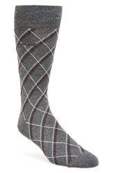 Hugo Boss 'Rs Design' Argyle Socks Light Grey