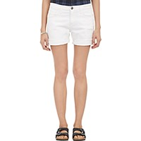 Current Elliott Women's The Slouchy Cut Off Shorts White