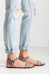 Urban Outfitters Stella Graphic Sandal Black And White