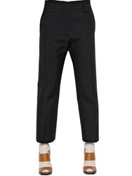 Jil Sander Double Face Cotton Gabardine Pants