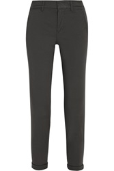 Vince Stretch Cotton Skinny Pants Gray