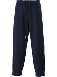 Ports 1961 'Micro Boucle Felted' Trousers Blue