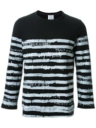 Fad Three Striped Long Sleeve T Shirt Black