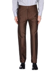 Gentryportofino Casual Pants Dark Brown