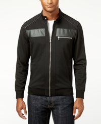 Inc International Concepts Men's Empire Pieced Full Zip Jacket Only At Macy's Deep Black