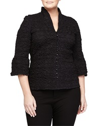 Go Silk Crinkle Stitched Stretch Poplin Shirt Black
