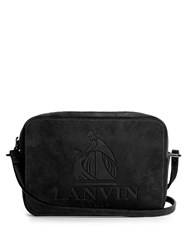 Lanvin Nomad Suede Cross Body Bag Black