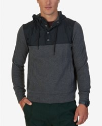 Nautica Men's Colorblocked Hoodie Charcoal Heather