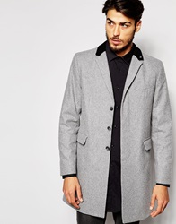 Peter Werth Made In London Wool Overcoat Lightgrey