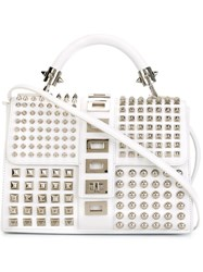 Philipp Plein 'Risky Situation' Crossbody Bag White