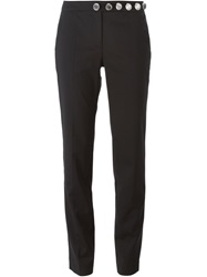 Versus Logo Button Slim Fit Trousers Black