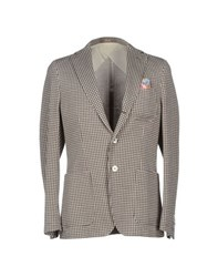 Paoloni Suits And Jackets Blazers Men Dark Brown