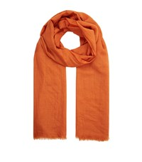 Eskandar Fine Cashmere Scarf Female Orange