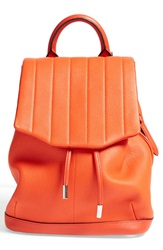 Rag And Bone 'Mini Pilot' Quilted Leather Backpack Spicy Orange