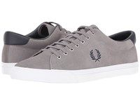 Fred Perry Underspin Suede Falcon Grey Navy Men's Shoes Gray
