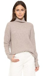 Madewell Solid Aria Turtleneck Heather Fawn