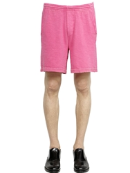 Dsquared Faded Cotton Jersey Shorts Pink