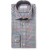 Etro Gingham Cotton Shirt Blue