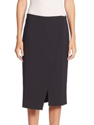 Brunello Cucinelli Solid Surplice Skirt Onyx