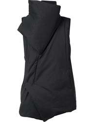 Julius Structured Collar Gilet Black