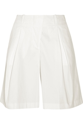 Jil Sander Pleated Cotton Blend Shorts
