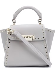 Zac Zac Posen 'Eartha Iconic' Top Handle Mini Bag Grey