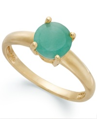 Victoria Townsend 18K Gold Over Sterling Silver Ring Emerald May Birthstone Ring 1 1 2 Ct. T.W.