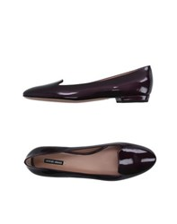 Giorgio Armani Footwear Moccasins Women Deep Purple