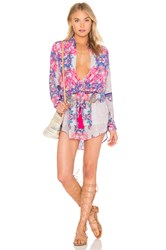 Rococo Sand Crossover Shirt Dress Pink