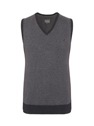 Peter Werth Bewdley V Neck Tank Top Charcoal Marl