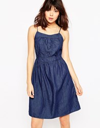 Brave Soul Denim Cami Summer Dress Denim Blue