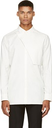 Helmut Lang White Poplin Placket Shirt