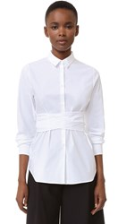 Rochas Wrap Blouse White