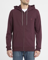Element Red Cornell Zipped Hooded Sweatshirt