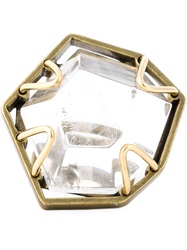 Lanvin Oversized Ring Metallic