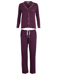 Cyberjammies Purple Haze Revere Collar Pyjama Set Lilac