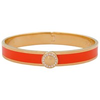 Halcyon Days Sparkle Button Bangle Orange Gold
