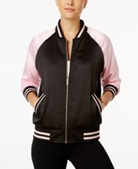 Say What Juniors' San Francisco Bomber Jacket Black