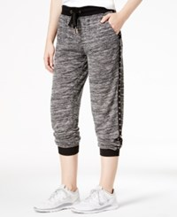 Material Girl Active Marled Grommet Trim Jogger Pants Only At Macy's Black