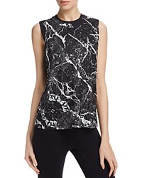 Work By Lovers And Friends Twisted Marble Print Tank Black Marble