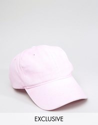 Reclaimed Vintage Washed Baseball Cap In Dusty Pink Pink