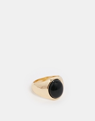 Asos Pinky Ring With Stone Gold
