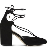 Aldo Franceska Suede Heeled Sandals Black Suede