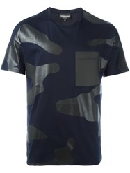 Emporio Armani Camouflage Print T Shirt Blue