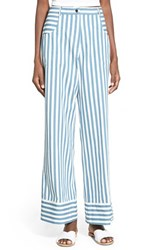 Women's Rachel Antonoff High Rise Crop Flare Cotton Pants