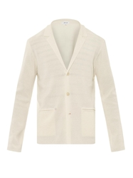 Faconnable Notch Lapel Knitted Cardigan Blazer